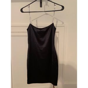 Meshki bodycon mini black dress